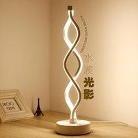 luzes de cabeceira modernas venda por atacado-Modern simples lâmpada LED lâmpada de mesa quarto de hotel quarto de cabeceira decoração lâmpada de mesa fonte de luz criatividade