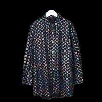 casacos de fantasia venda por atacado-dos homens novos da marca Camisas de vestido Moda Harajuku Casual shirt Homens de luxo Medusa Black Gold fantasia 3D Impressão Slim Fit Camisas Casaco de Ganga