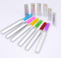 Wholesale crystal nail file cases for sale - Group buy Professional Crystal Glass Colorful Nail File with Case Disposable Nail Polish Tool Fashion Design High Quality
