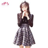 0781aa371d Korean New Fashion Plaid Suspender Skirt Autumn Japanese Vintage Wool Slim Pleated  Skirts College Sweet Strap Mini Skirts J190411