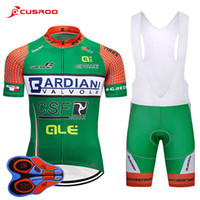 Wholesale bardiani cycling resale online - 2018 Uci Pro Team Bardiani Csf Cycling Jersey d Gel Pad Bike Shorts Set Mtb Mens Summer Ropa Ciclismo Cycling Wear Bicycle Maillot Culotte