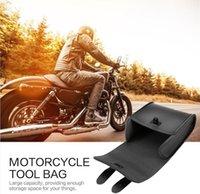 motosikletler eyer çantaları toptan satış-Evrensel Motosiklet Bisiklet Ön Gidon Alet Çantası Bagaj Sele Çanta Suni Deri Evrensel Motosiklet veya Bisiklet