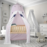 Wholesale princess girl bedding online - Cotton Baby Canopy Mosquito Net Anti Mosquito Princess Bed Canopy Girls Room Decoration Bed Canopy Pest control Reject Net RRA110