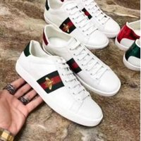 Wholesale couple ring online - Brand Designer Casual Shoes Flat Running Shoes Fashion AAAA Bee Sneakers Women and Men Shoes Chaussures