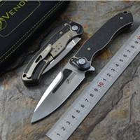 cuchillo de hueso de supervivencia al por mayor-VENENO Bone Doctor M390 titanio CF Flipper cuchillo plegable acampar al aire libre la supervivencia de la caza de bolsillo de la cocina de la fruta cuchillos de herramientas EDC