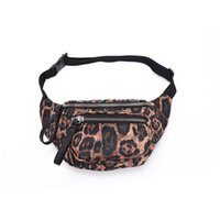 bolsos de moda de la bolsa de la cintura al por mayor-Leopard Waist Bag Unisex Cinturón Impermeable Riñonera Moda Cofre Bolso Monedero mujer Teléfono Bolsa LJJM2360