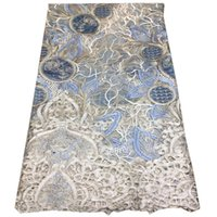 Wholesale dresses for korea resale online - African Lace Fabric With Stones Velvet Latest Korea Fabric High Quality French Tulle Lace For Dress