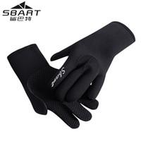 я перчатка оптовых-SBART 3MM Неопреновые перчатки для подводного плавания Оборудование для снорклинга Противоскользящее согреться Зимнее плавание Подводная охота Гидрокостюм из ткани I