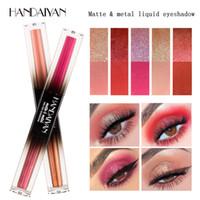 блестящий тени для век карандаш оптовых-Handaiyan металлический карандаш для теней для век двухцветный кремовый блестящий водонепроницаемый долговечный золотисто-коричневый красный с мерцающими тенями для век
