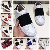 zapatos de vestir de la cinta al por mayor-Calzados informales de cuero genuino de calidad superior con zapatillas de diseñador Ribbon para hombres, zapatos de vestir para hombres zapatillas tamaño 35-45 con caja GV1