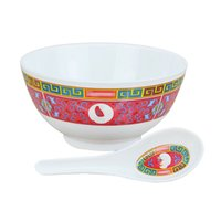 Wholesale set bowl dinnerware for sale - Group buy Sup Brand Bowl Spoon Set Ceramic Moderate In Size Jubilation Dishware Eco Friendly Reusable Artifact Anti Scald Dinnerware frD1