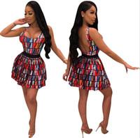 tasarımcı iki parça gece elbisesi toptan satış-Marka Tasarımcısı Bayan Giyim Moda Yaz Iki Parçalı Elbise Eşofman Kadın Lüks Iki Parçalı Kıyafetler Zarif Akşam Seksi Etekler