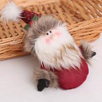 новогодние шарфы оптовых-Рождество дома висит декор Санта-Клаус кукла игрушка Рождественская елка декор настоящее большое украшение для дерева