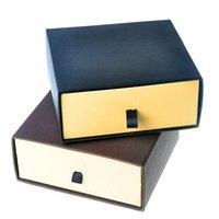 kemer hediye ambalajı toptan satış-Moda Toka Kemer Kutusu Karton Kutuları Marka Tasarımcısı Erkek Kemerleri Kutuları Takı Ambalaj Siyah Kahverengi Hediye Paketleme Kutusu Toptan
