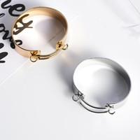 ingrosso pulsanti a sfera liberi-i braccialetti dei bottoni del perno dei monili del progettista braccialetti del polsino della forma del manicotto per modo caldo delle donne liberano di trasporto