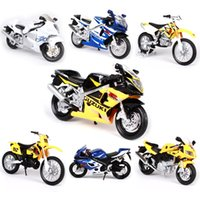 Wholesale maisto motorcycles for sale - Group buy Maisto Motorcycle Model Toy Alloy Motor Bicycle Models Off Road GSX R Collection Car Toys For Children Birthday Gift
