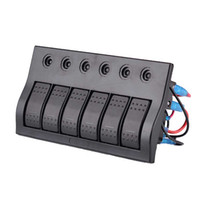 Wholesale 12v marine switches for sale - Group buy 6 Gang Way Led Marine Boat Rocker Switch Panel With Circuit Breaker V V