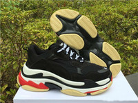 Wholesale men's slip canvas shoes for sale - High Quality Multi Luxury Triple S Designer Low New Arrival Sneaker Combination Soles Boots Mens Womens Casual Shoe