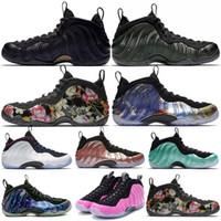 zapatos de nylon rosa al por mayor-Zapatillas de baloncesto para hombre Penny Hardaway 2019 CNY Floral Fleece Habanero Rojo Sequoia Berenjena Moho Zapatillas de deporte deportivas de espuma rosa 7-13 Envío gratis