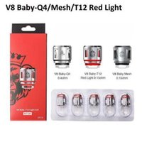 Wholesale 5pcs pack baby resale online - 5pcs pack TFV8 Baby Coil Head New Coil TFV12 Baby Prince Coil V8 Baby Q4 Mesh Strip Smoking Accessories CCA11280