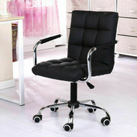 New Modern Office Executive Chair PU Leather Computer Desk Task Hydraulic Black