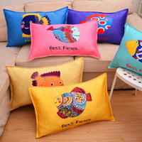 Wholesale chinese pillowcases for sale - Group buy Chinese Zodiac Printing Pillowcase Cartoon Comic Children Pillow Cover Lovely Student Household Vehicle Use Dog Rabbit dj A1