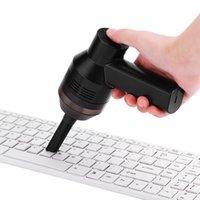 cepillo de teclado envío gratis al por mayor-Aspirador portátil con mini teclado recargable de mano para computadora de escritorio, computadora de escritorio, teclado, colector de polvo, kit limpio 4