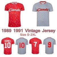 dulces clásicos al por mayor-1989 1991 JOHN BARNES Ian Rush Kenny Dalglish camiseta de fútbol retro 1990 CANDY hogar lejos clásica camisa de fútbol vintage