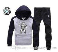 el jogger se adapta a los niños al por mayor-Ropa de invierno para hombre Establece sudaderas con capucha Pantalones 2 unids Jogger Sports Chándales trajes de Billion Boys