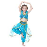 makyaj malzemeleri toptan satış-Kız bebekler tasarımcı Giyim Çocuk Aladdin Lamba Yasemin Prenses çocuk Kostüm karikatür Çocuklar Makyaj parti Giyim TL957 Cosplay kıyafetler