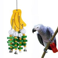 Banana String Pet Supplies Wooden Parrot Supplies Gray Macaws Parrot Cage Bite Toys Bird Chewing Toy