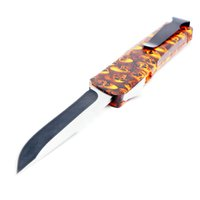 Wholesale skull self defense for sale - Group buy A16 orange skull models double action tactical self defense folding double edc action knife automatic knife automatic knives xmas gift