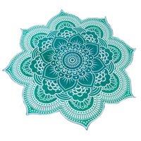 estera de toallas de yoga al por mayor-Lotus Impreso Cojín de playa Mujer Toalla de playa Estera de yoga Mujer Mantón de playa Poliéster Impresión Encubrimientos Florales 58