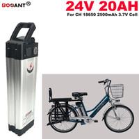 ingrosso batteria al litio-Batteria agli ioni di litio per bicicletta elettrica Silver Fish 24v 20ah per Bafang BBSHD 250W 350w 500W Batteria agli ioni di litio per motore E-bike 24V