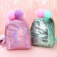 lindos bolsos para la escuela al por mayor-1 PC chica linda de las lentejuelas de piel brillante bola bolso de escuela del morral del bolso de poliuretano PU Capacidad de guía Bolsas Satchel para los niños