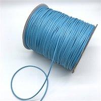 cera do céu venda por atacado-0.5mm 0.8mm 1mm 1.5mm 2mm Céu Azul Encerado Algodão Corda Encerrada Cord Cordão Corda Colar Corda Para Fazer Jóias