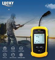 ingrosso sonar di ricerca dei pesci-FORTUNATO FFC1108-1 100M Sonar portatile LCD Fishfinder Strumenti di pesca Ecoscandaglio Fish Finder Schermo colorato