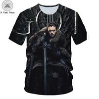 neve do jon camiseta venda por atacado-X Força-tarefa Jon Snow King 3D Impresso Homens / Mulheres T-shirt casual homens camiseta Tops Tees Kit Haringt impressão t camisa