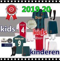 Wholesale black yellow football kit resale online - top quality Ajax FC Soccer Jerseys kids kits Camisa NERES TADIC HUNTELAAR DE LIGT VEN DE BEEK Football Shirts