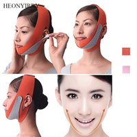 yüz kemerleri toptan satış-İnce Yüz Germe Masajı Yüz Maskesi Kemer Yüz Masajı Aracı Çift Çene Bandaj şekillendirici Azaltın