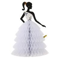 tierkreuzkarten großhandel-Romantische 3D Braut Honeycomb Ball Tischdekoration Papierkarten Hochzeit Verlobungsfeier Dekorationen