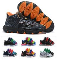 erkek kız takılar toptan satış-2019 Yeni Erkek Çocuklar Kyrie V Şanslı Charms ayakkabı satış Irving 5 Basketbol 5 s ayakkabı Gençlik Kızlar Kadınlar boyutu 36-40