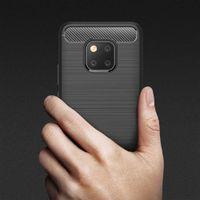 Wholesale silica kit resale online - Cover For Huawei mate Carbon fiber silica gel covered Pro Lite Nova E phone kits I I S crash proof cover