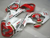 gsxr yeni kaplamalar toptan satış-SUZUKI GSXR600 GSXR750 2004 2005 için tüm yeni kaporta kiti beyaz kırmızı GSXR 600 750 K4 K5 kaporta RT55