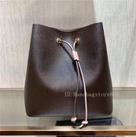çapraz kova kovaları toptan satış-Yüksek kalite moda kadınlar ünlü NEONOE omuz çantaları çiçek baskı tasarımcı çanta bayan deri kova çanta crossbody çanta çanta