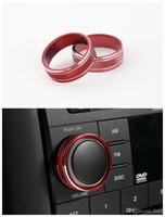 2X CD Knob Decorative Red Cover Trim Frame For Jeep Patriot Compass 2011-2015
