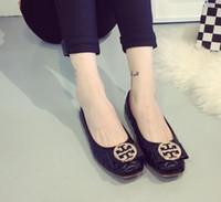 zapatos casuales de bailarina al por mayor-Bailarina de mujer Zapatos planos Mujer transpirable Casual zapatillas mujer calzado babet ayakkabi femme cestas damen herbst schuhe