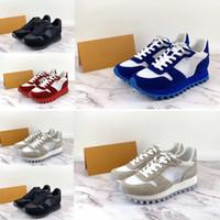 senhoras couro lazer sapatos venda por atacado-2019 novos sapatos de grife quentes RUN designer de esportes e lazer dos homens das senhoras de malha de couro sapatos casuais 36-45