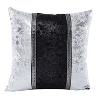 cojines beige negros al por mayor-Mayitr 45x45cm Negro Astilla Impreso Funda de almohada Floral Throw Pillow Covers Splice Square Fundas de cojines para asiento Sofá decoración