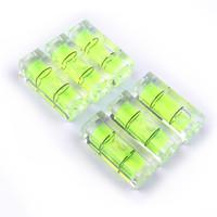níveis de bolha venda por atacado-Frete grátis 10 * 10 * 29mm Quadrado Espírito Nível Bolha com tarja Magnética Transparente ou Verde
